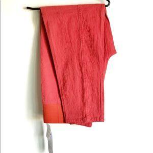 Diane Gilman Red Pants NWTS Elastic Waistband